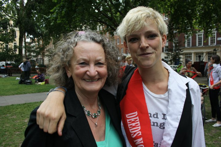 Tamsin campaigning alongside Baroness Jenny Jones AM for cleaner air in London