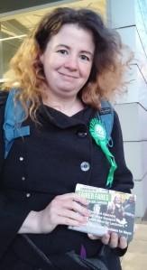 Rachel Collinson outside Pontoon Dock station