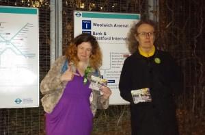 Rachel Collinson with volunteer Ed at London City Airport